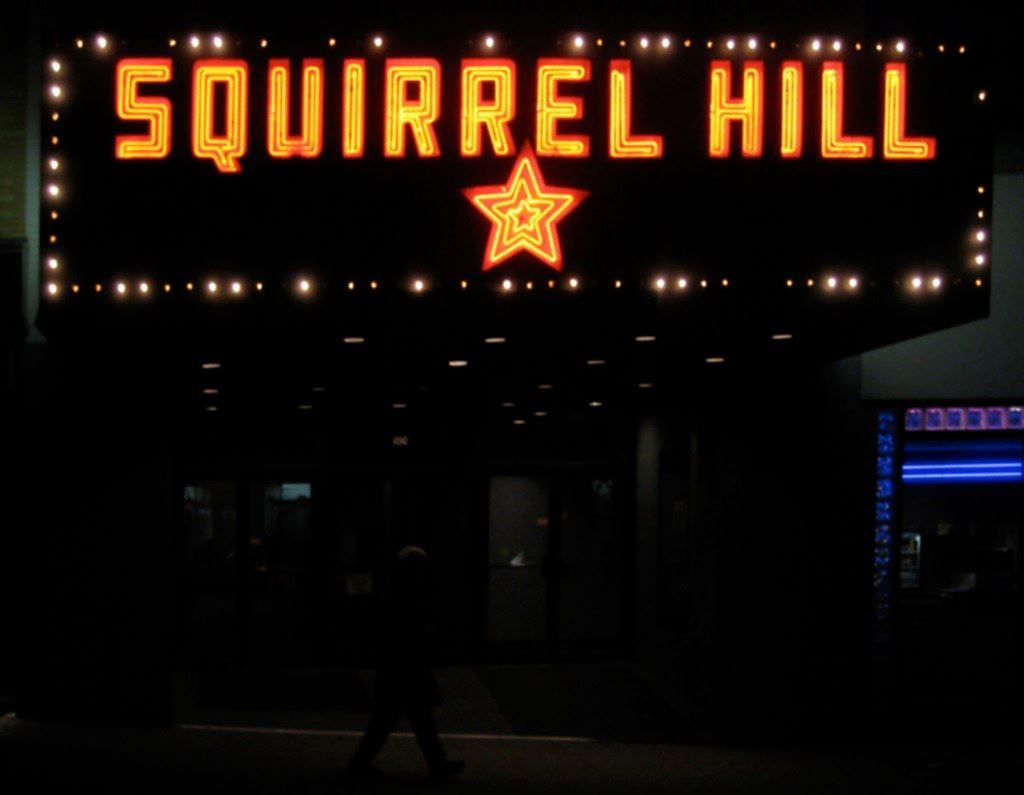 Squirrel Hill Theater Marquee
