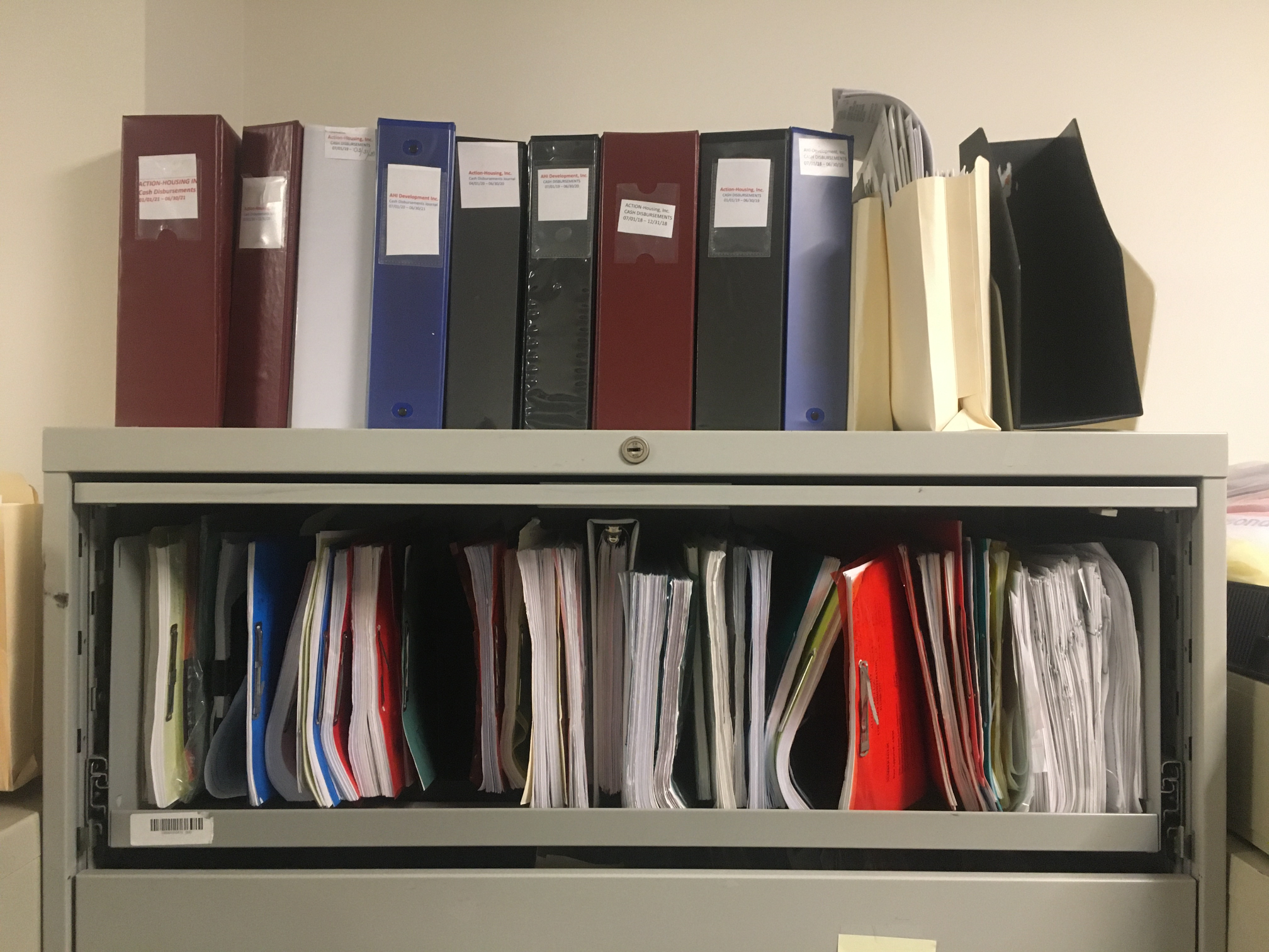 Accounting files and folders